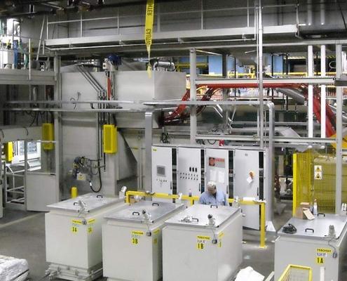 Impianto cestello lavastoviglie