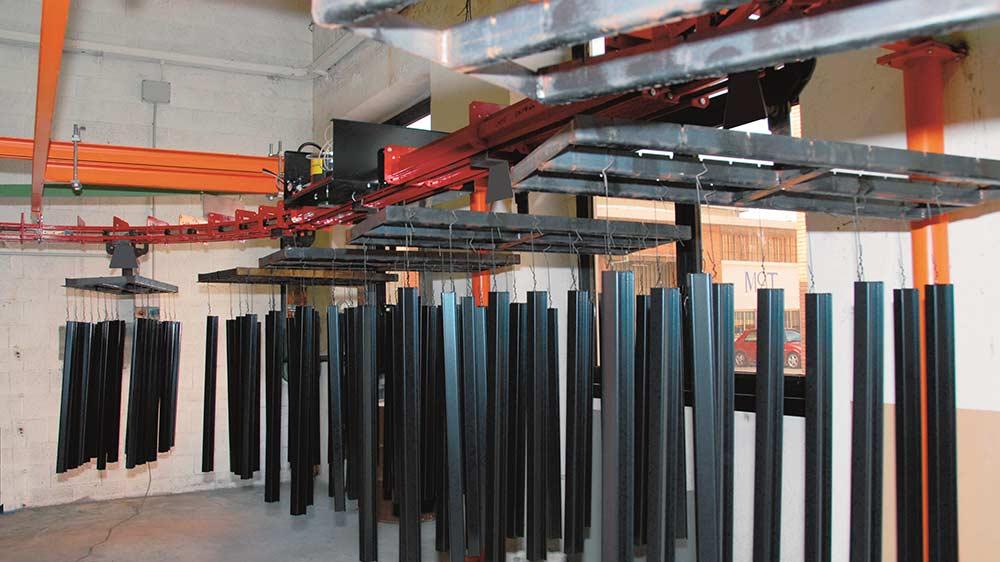 Impianto per profili cassoni batterie elettriche