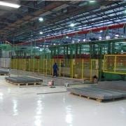 Impianto per pannelli di recinzione e pali 6 metri per 3 metri