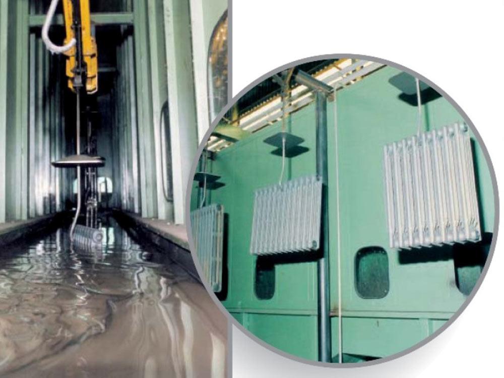 Impianti per applicazione vernici liquide ad immersione for Vernice per termosifoni