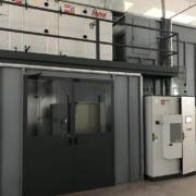Cabina per applicazioni zinco lamellare